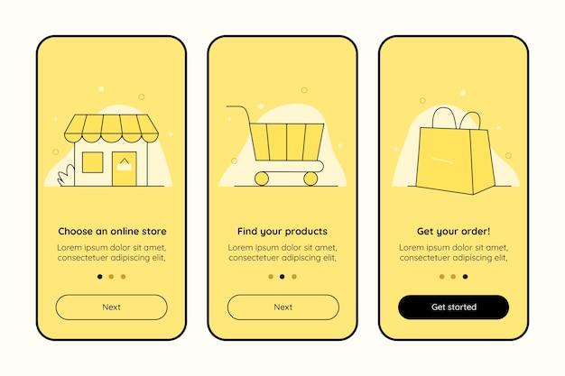 온라인 온 보딩 앱 화면 구매