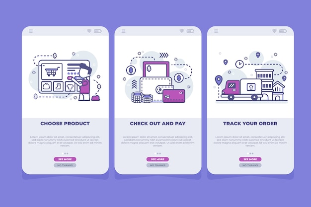 Purchase online onboarding app