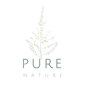 Pure nature logo