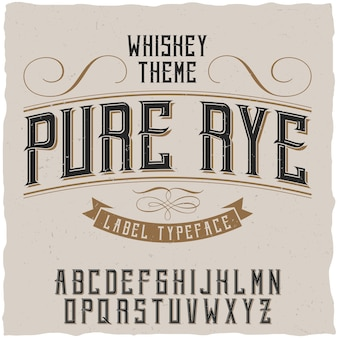 Pure rye typeface