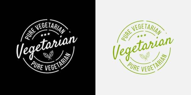 Pure vegetarian bio, ecology, organic logo badges.
