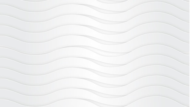 Pure white wave background