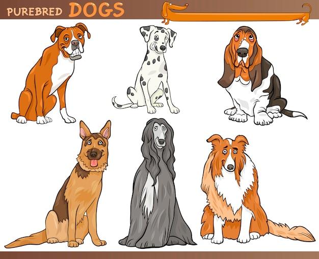 純粋な犬の漫画のイラストセット