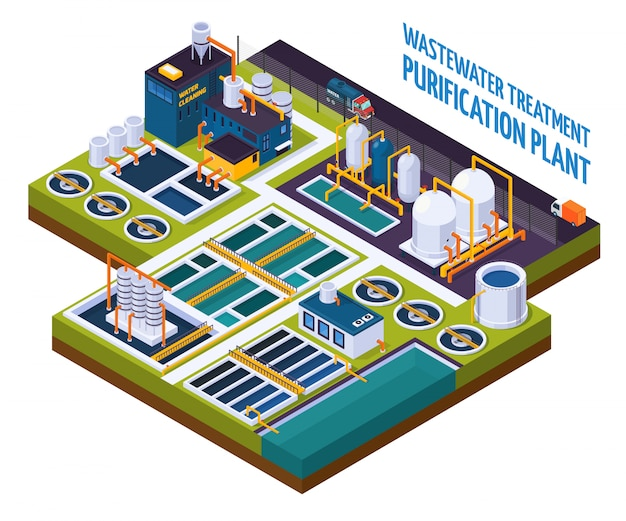 Purification plant isometric