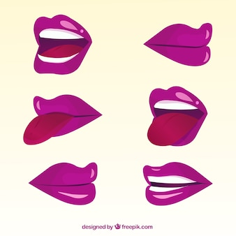 Purple 2d lips collection