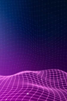 Purple 3d abstract wave pattern background