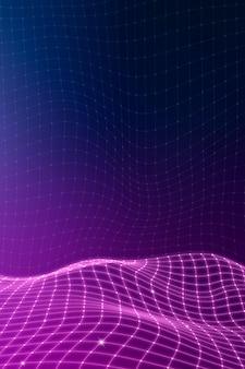 紫の3d抽象的な波パターンの背景