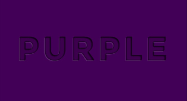 Purple 3d editable vector text effect free vector