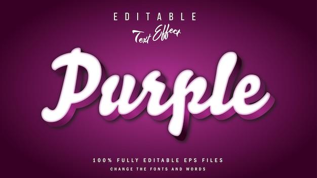 Purple 3d text effect typographic design