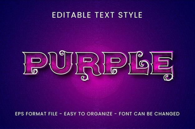Фиолетовый 3d текстовый эффект
