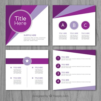 Purple abstract business presentation
