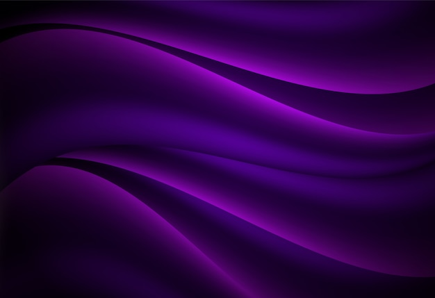 Фиолетовый абстрактный кривая и волнистый фон