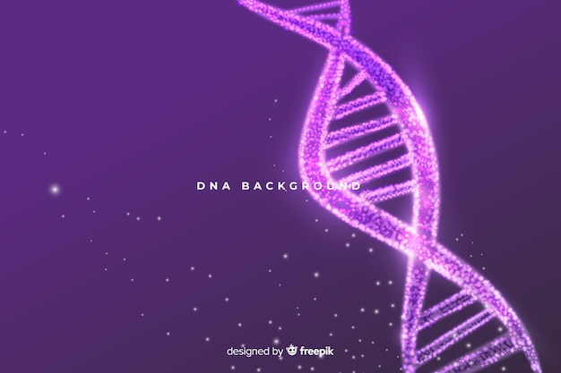 Purple abstract dna structure background