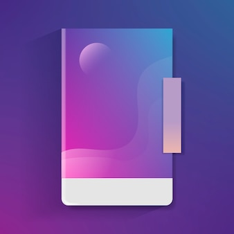 Purple abstract gradient template