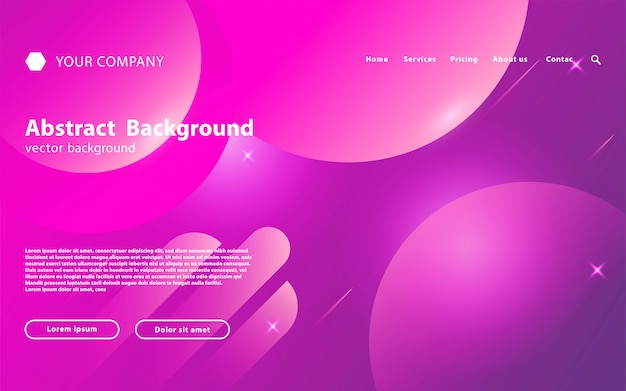 Purple abstract landing page template