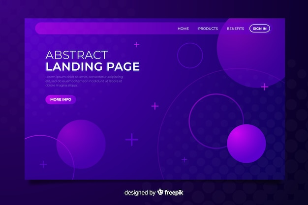 Purple abstract landing page