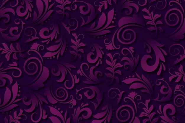 Purple abstract ornamental flowers background