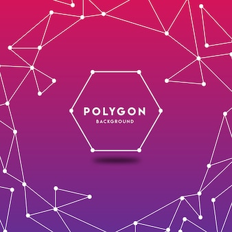 Purple abstract polygon background