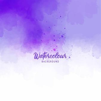 水彩テクスチャーと紫の抽象的なスプラッシュペイントの背景