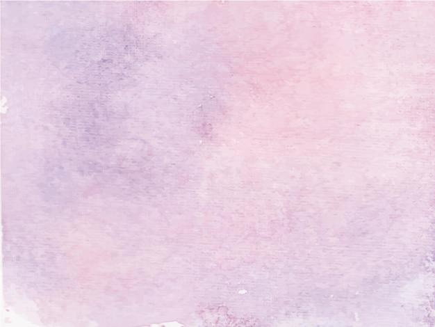 紫の抽象的な水彩画の背景、ハンドペイント。紙に色がはねかける