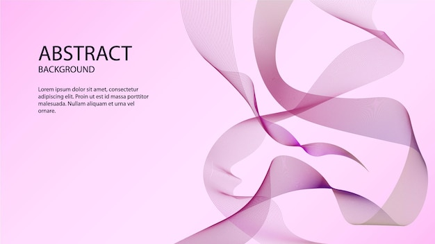 Purple abstract with ribbon wave background violet and pink abstract background