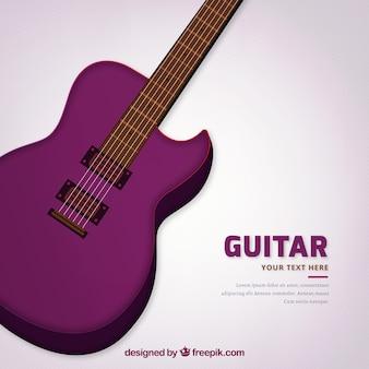 Sfondo di chitarra acustica viola