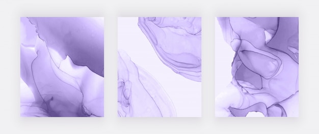 Purple alcohol ink design covers. abstract hand painted background.