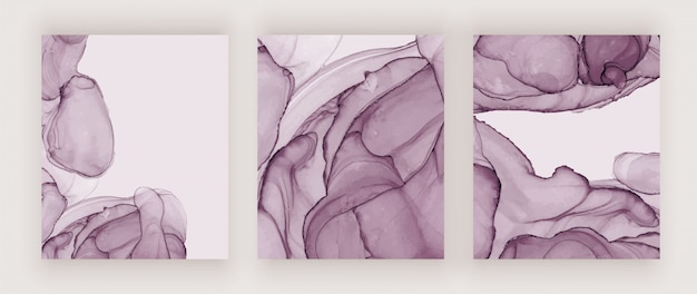 Purple alcohol ink texture covers. abstract hand painted watercolor background.