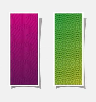 Фиолетовый и зеленый градиент