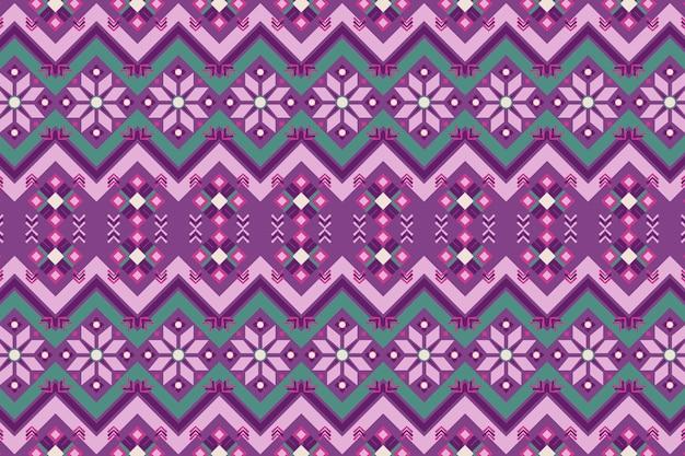 紫と緑のソンケットパターン