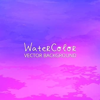 Фиолетовый и розовый акварельный фон