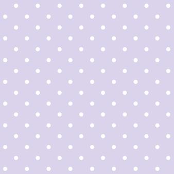 보라색과 흰색 원활한 폴카 도트 패턴 벡터