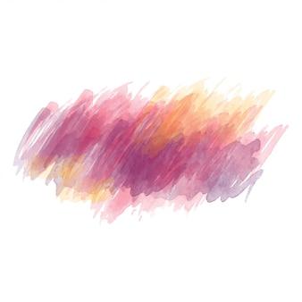 보라색과 노란색 수채화 그려진 된 벡터 얼룩 절연