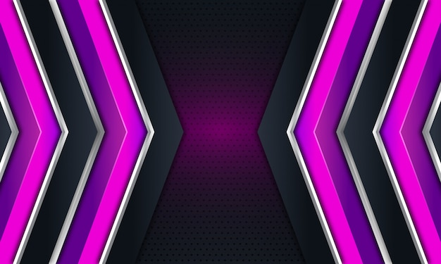 暗い黒の背景に紫の矢印