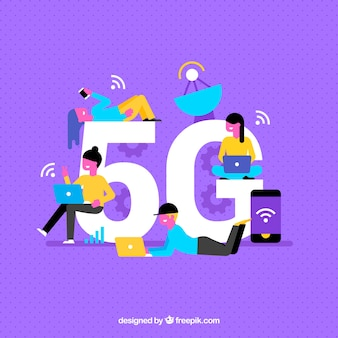 Purple background of 5g
