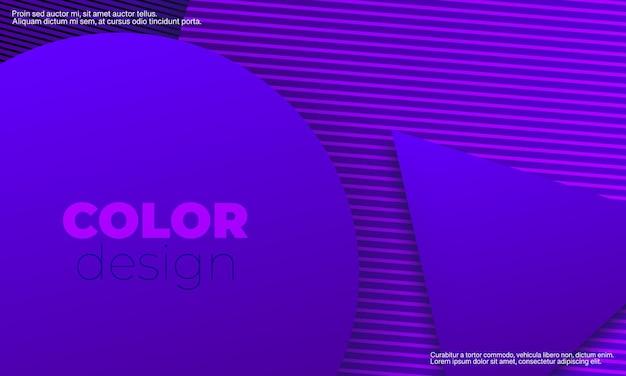 Фиолетовый фон. абстрактный дизайн обложки. геометрический фон. креативные фиолетовые обои. геометрические фигуры. модный градиентный плакат.