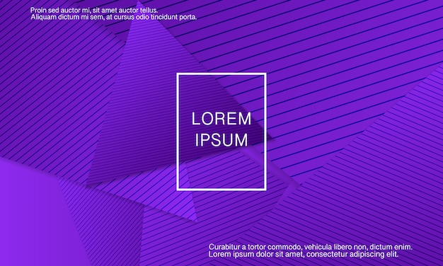 Purple background. abstract cover . geometric background. creative purple wallpaper. geometric shapes. trendy gradient poster.  illustration.