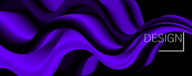 Purple background. fluid flow. landing page.