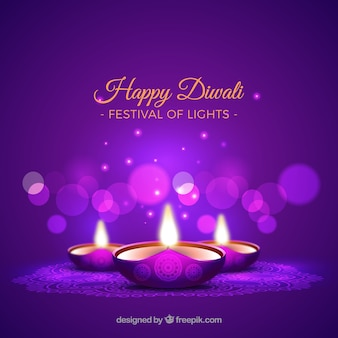 Diwali vectors photos and psd files free download purple background of diwali candles m4hsunfo