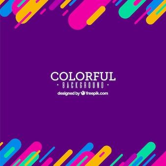 Фиолетовый фон с красочными элементами