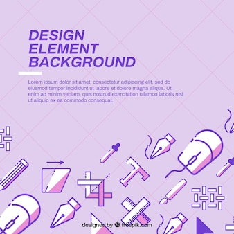 Purple background with design elements