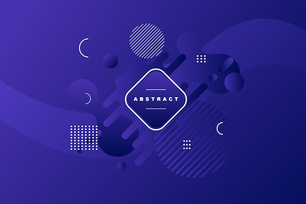 Purple background with geometric and striplines shape
