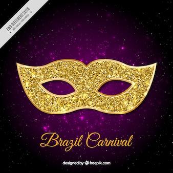 Фиолетовый фон с блестящими маски для бразильского карнавала