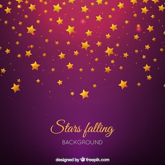 Purple background with golden stars