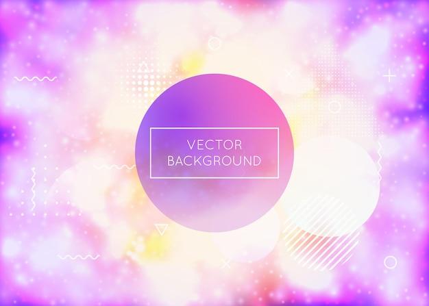 Фиолетовый фон с жидкими неоновыми формами. светящаяся жидкость. флуоресцентная крышка с градиентом баухауса. графический шаблон для книги, годового, мобильного интерфейса, веб-приложения. радужный фиолетовый фон.