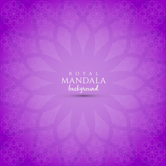 Purple background with mandala design