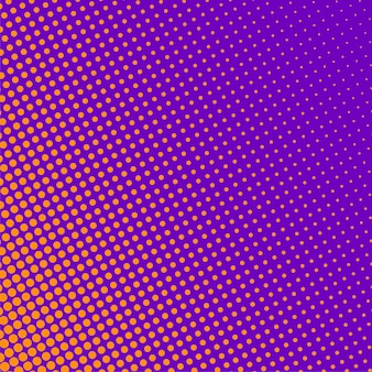 Purple background with orange halftone pattern