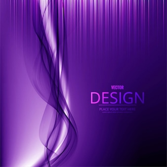 Purple background with stripes and wavy shapes