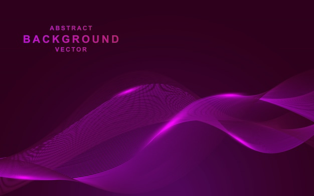Purple background with wave abstract shapes