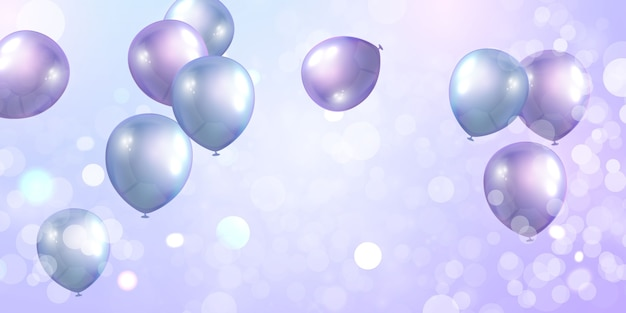 Фиолетовые шары слава концепция дизайна баннера шаблон
